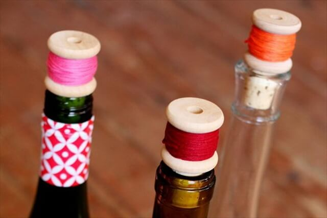 DIY Wine Cork Thread Spool