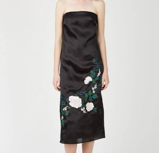 Sen Wye Grace Embroidered Double Silk Dress