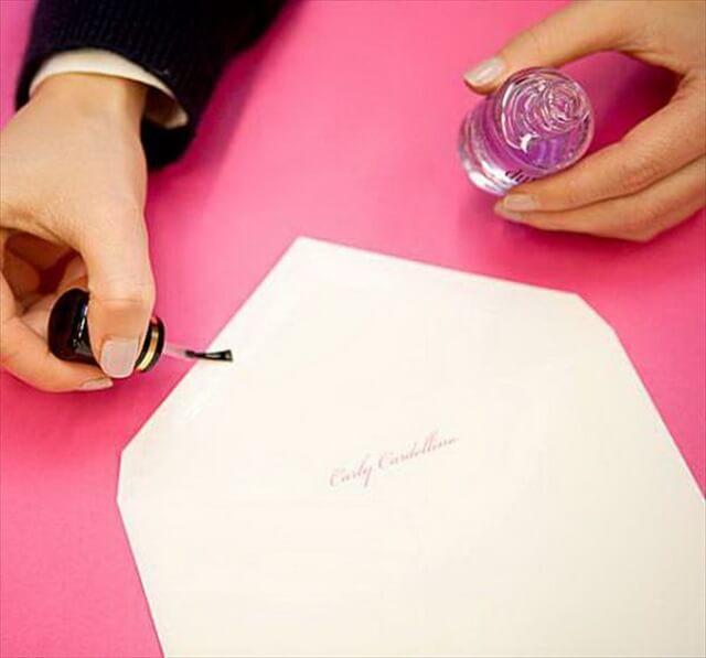 Nail Polish Used to Seal Envelope