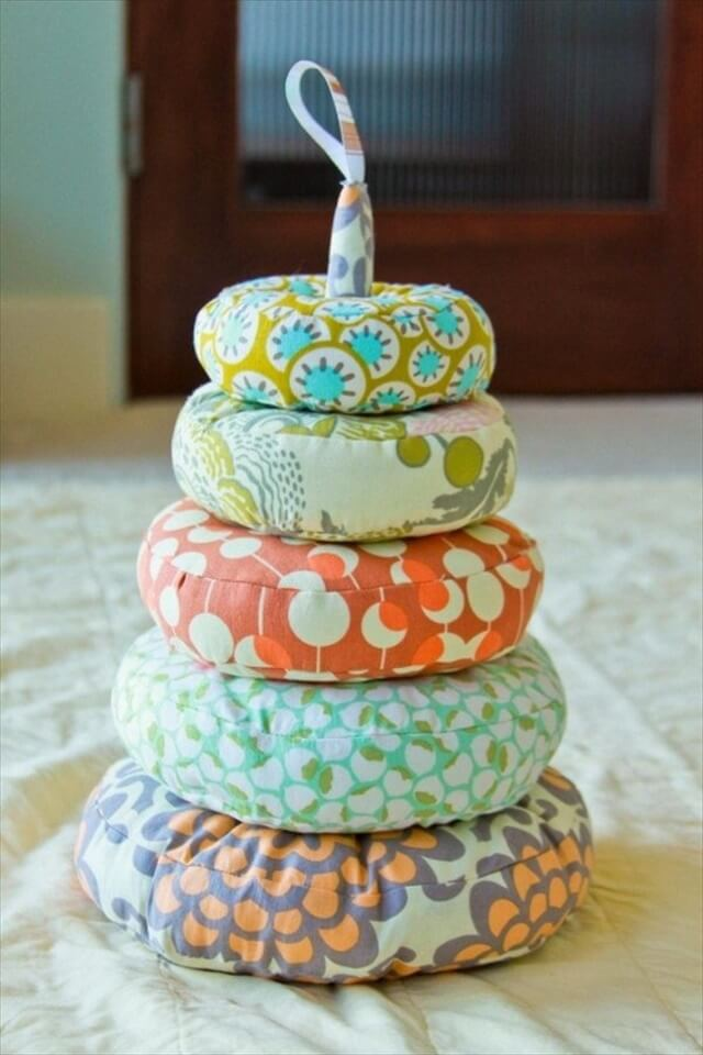 DIY Stackable Fabric Rings