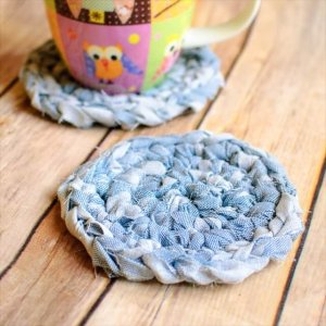 Fabric Crochet Coaster Pattern