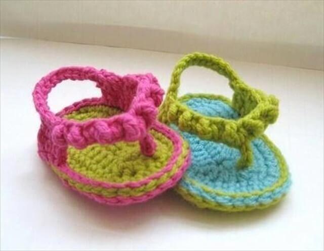 Flip Flops Baby Booties Crochet Pattern