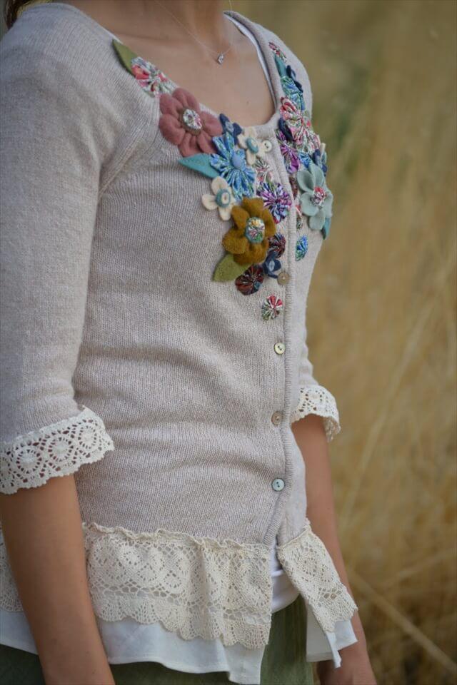 Floral Embellished Cardigan