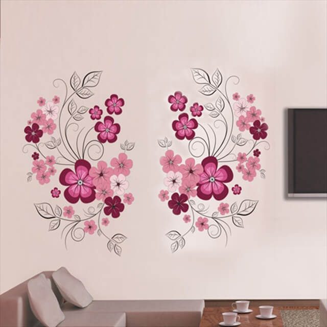 Removable Flowers Mural Wall Sticker Decal Home Living Room Decor Vinyl Art DIY
