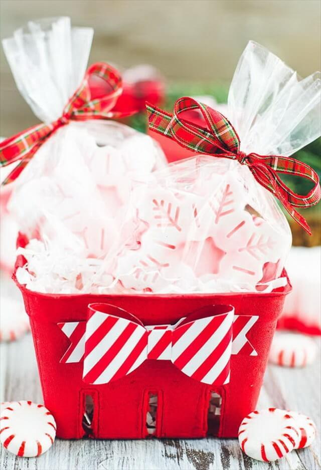 DIY Peppermint Soap Gift Idea