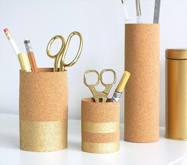 Cork Pen Cups