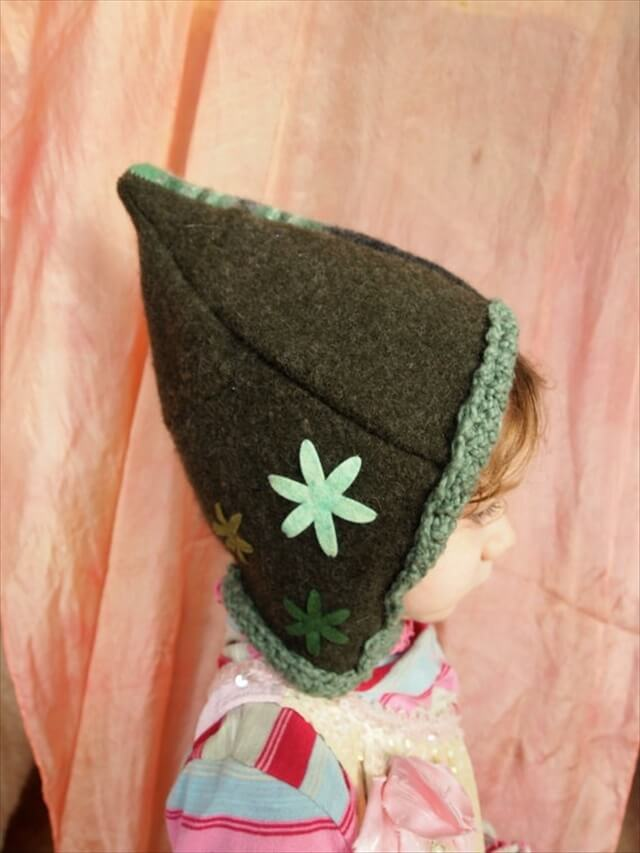 Recycled sweater elf hat