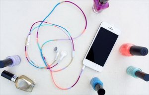 DIY Headphones with Nail Polish