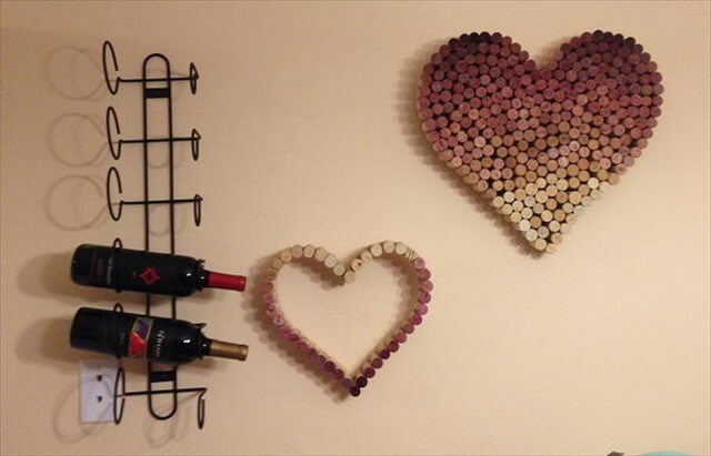 Heart Shaped Wine Cork Wall Art