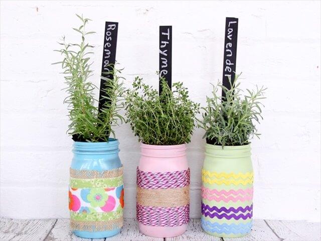 herb-garden-diy-mason-jar-planters