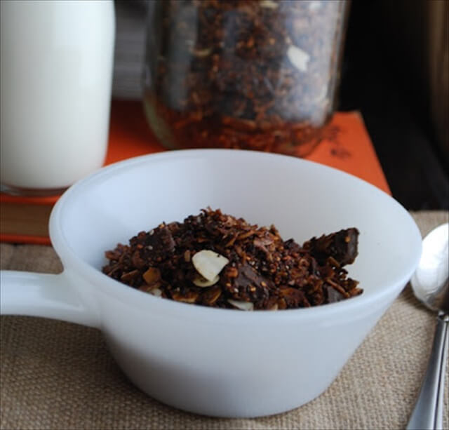 Triple Chocolate Quinoa Granola
