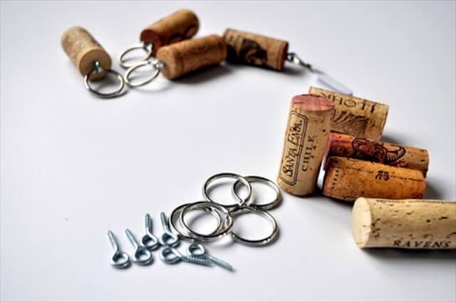 DIY Wine Cork Key Chains