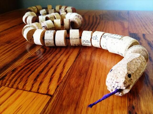Wine Cork Snake