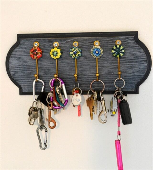 DIY Key Holder with Vintage Look