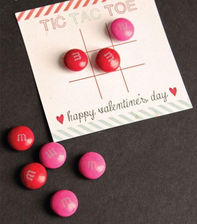 Valentine's Tic-Tac-Toe Card:
