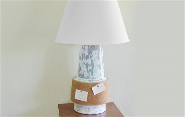 Cork Board Lamp