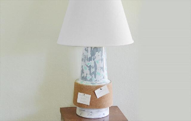 Cork Board Lamp
