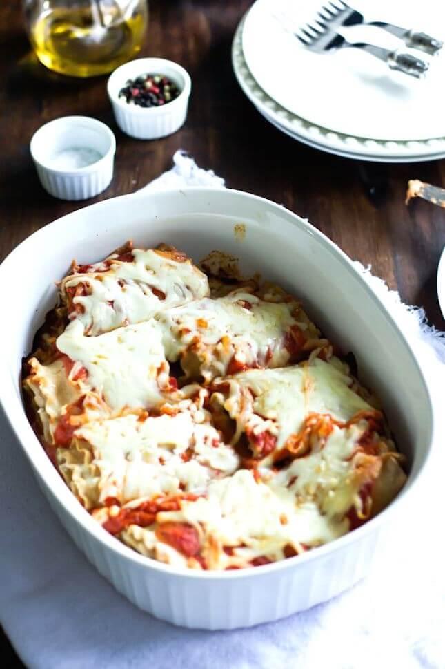 Skinny Lasagna Rolls: