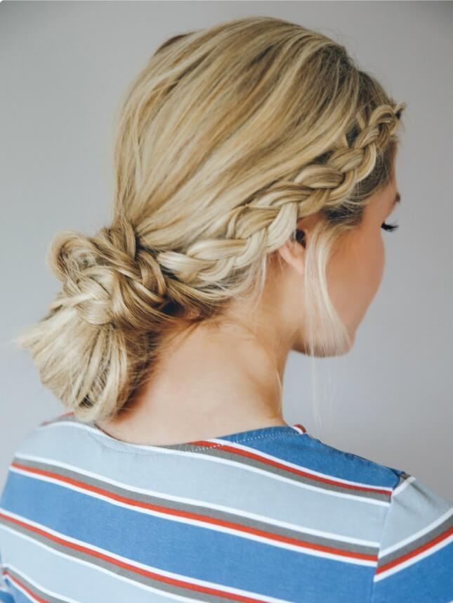 Double Dutch Braid Bun: