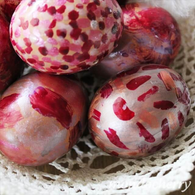 Metallic Nail Polish Easter Eggs, Hand Painted Easter Egg Ideas, DIY Crafts Ideas