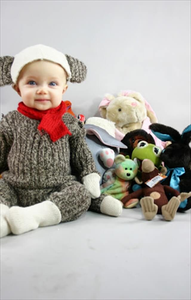 Children's Sock Monkey Costume