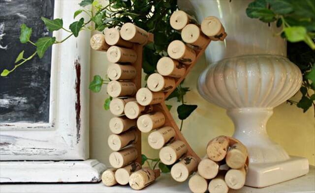 Monogram with Wine Corks