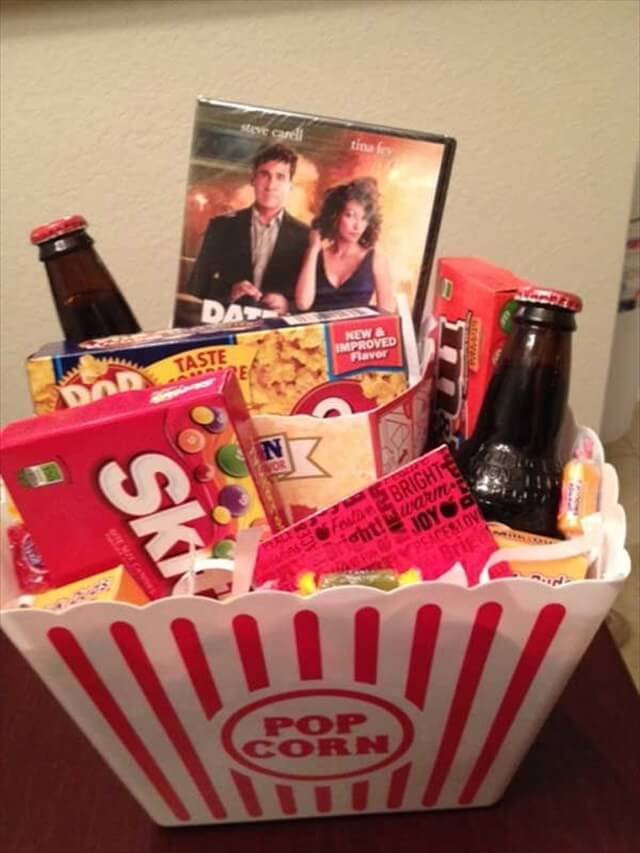 Movie Themed Date Night Gift Basket