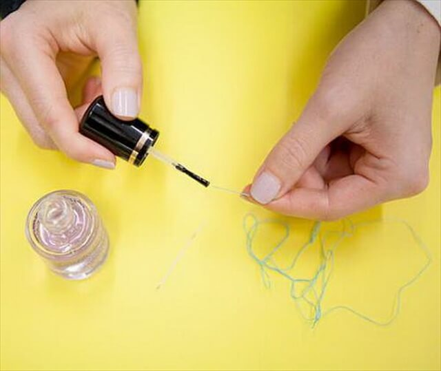 Use Clear Polish to Thread a Needle More Easily