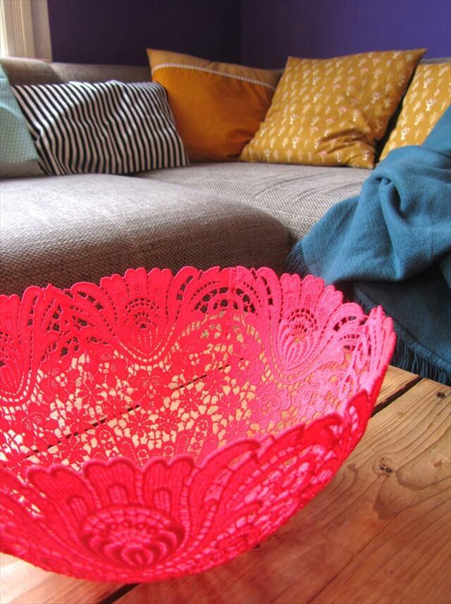Decorative Lace Bowl