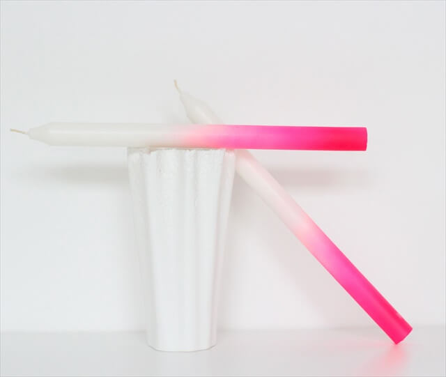 Neon Dipped Candlesticks
