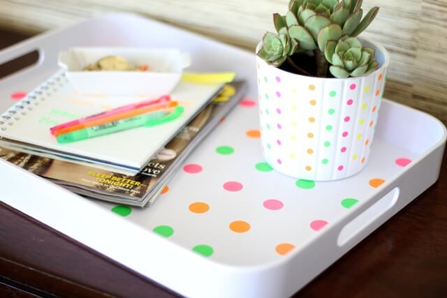 Polka Dotted Tray