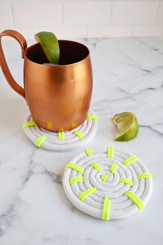 Neon Rope Coasters