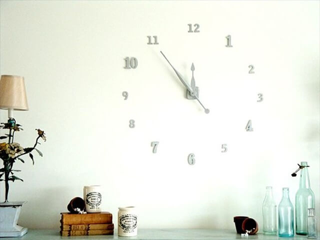Floating Numbers Wall Clock: