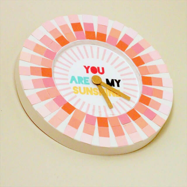 Paint Swatch Clock: