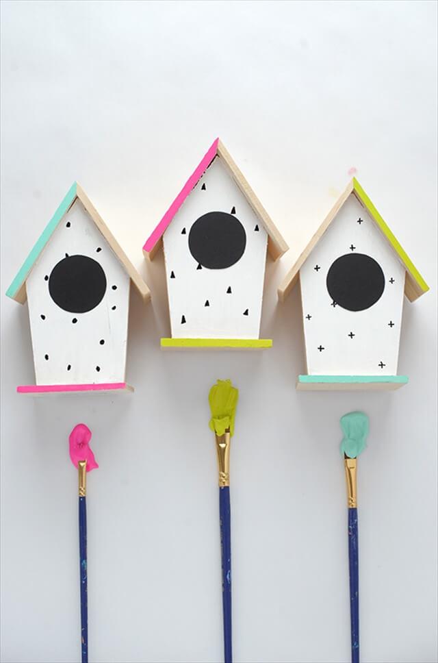Neon Bird Houses