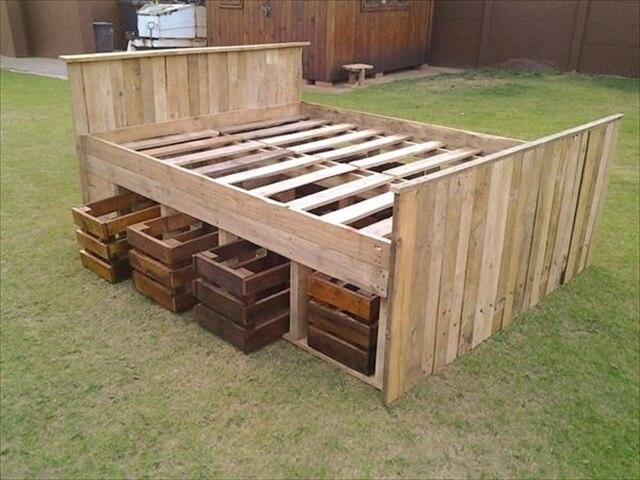diy pallet bed frame