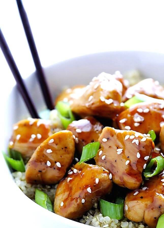 Sesame Chicken and Quinoa: