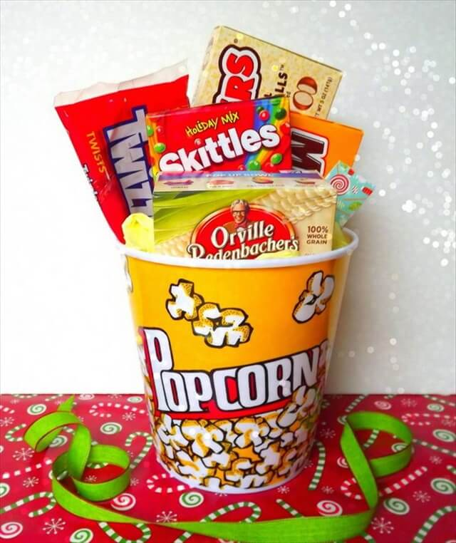 DIY Handmade Movie Night Redbox Gift Basket