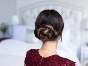 Double Rope Braid Bun