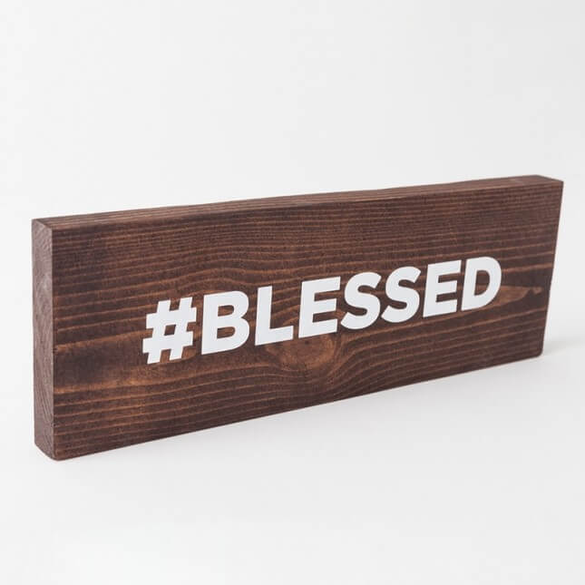 Duo Studio Blessed Sign