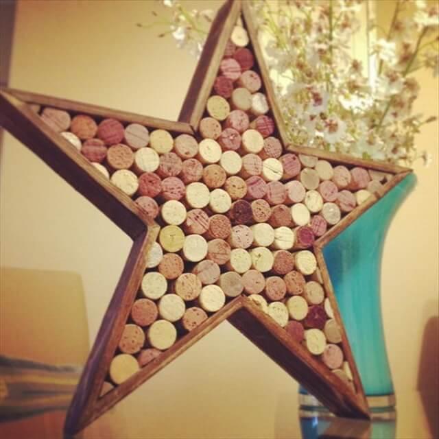 Star Shaped Wine Cork Decor