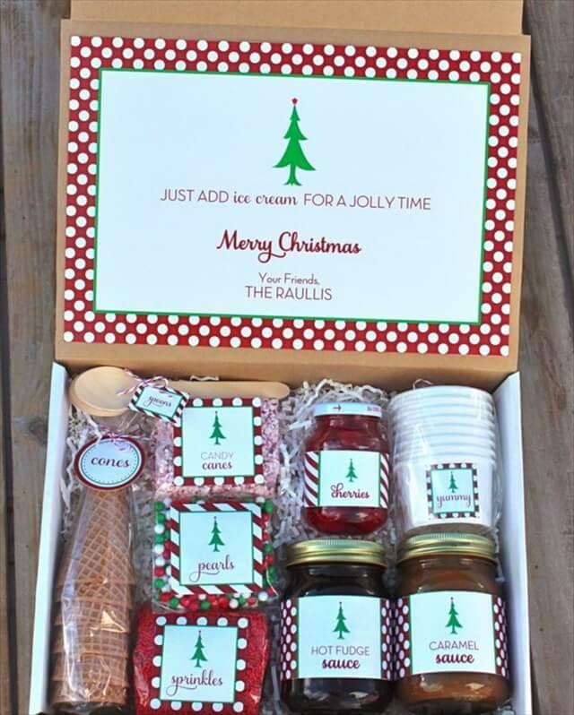 Homemade Christmas Sundaes Kit Gift Basket