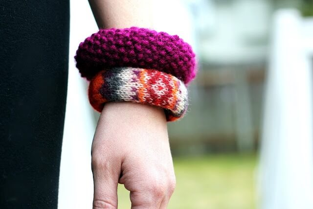 Sweater Covered Bangles