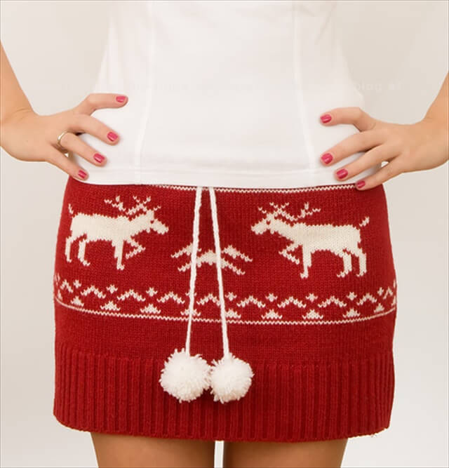 Sweater Mini Skirt
