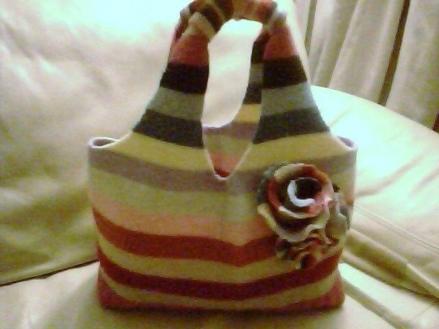 sweatre purse with flower