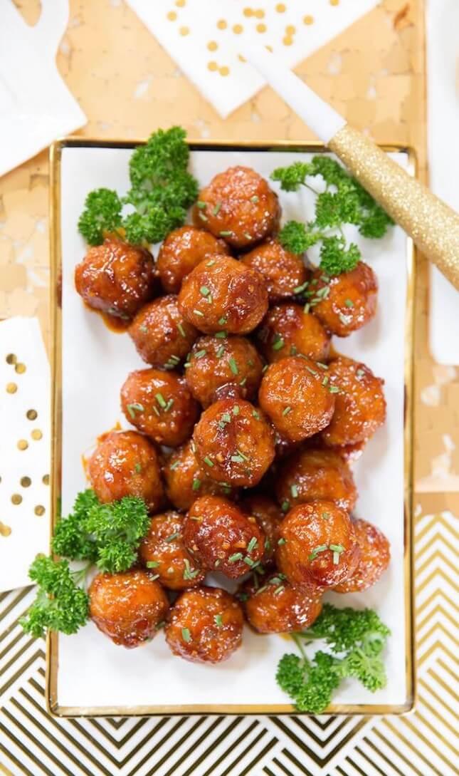 Sweet 'n' Spicy Meatballs: