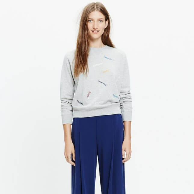 Madewell Embroidered Throwback Sweatshirt
