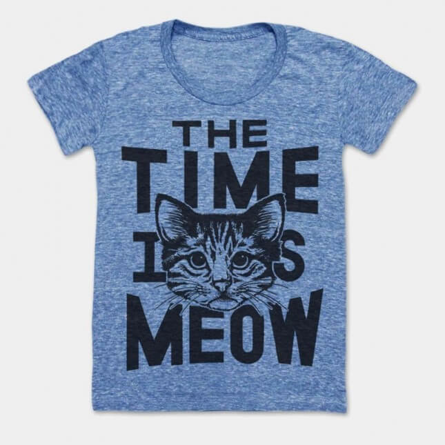 Print Liberation The Time Is Meow Tee