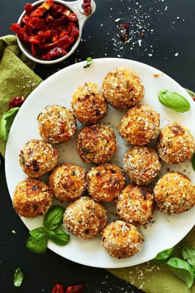 Sun-Dried Tomato and Basil Meatballs: