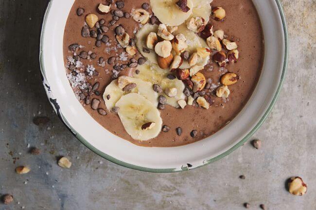 Chocolate Hazelnut Smoothie Bowl: